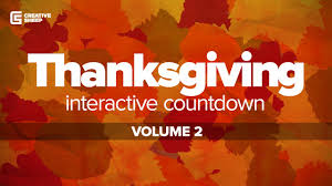 thanksgiving interactive countdown vol 2