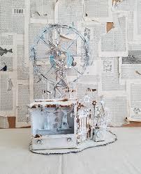3d metal sculpture art carnival ferris wheel art vintage shabby