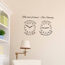 vinyl wall clock decal home design ideas