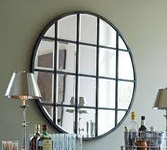 bathroom fantastic large multipanel mirror with metal towel rings