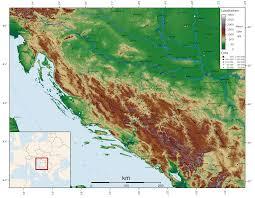 Utk Map Dinarisches Gebirge U2013 Wikipedia