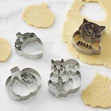 fall impression cookie cutters set of 4 williams sonoma