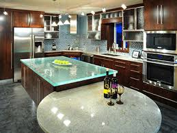 glass kitchen island kitchen decorating and design trends for 2011