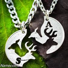 mens necklace images Mens necklace buck and doe love quarter customized with one jpg