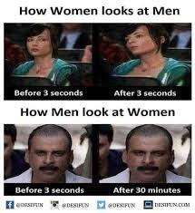 Men And Women Memes - dopl3r com memes how women looks at men before 3 seconds after
