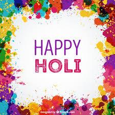 colorful ink splashes holi background vector free download