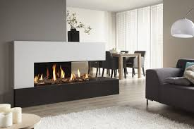 furniture modern gas fireplace design in dining room and living