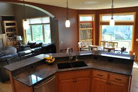 Kitchen Island Granite Countertop Kitchen Countertops Minneapolis Mn Granite Quartz Counters