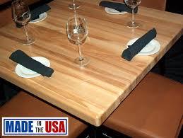 butcher block table tops square butcher block restaurant tables gotable com