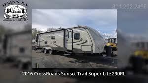Sunset Trail Rv Floor Plans Terry U0027s Rv 2016 Crossroads Sunset Trail Super Lite 290rl Youtube