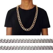 long mens necklace images Mens 35 quot hip hop empire chunky cuban link chain 21 mm bling long jpg
