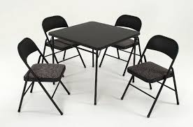 cosco 5 piece card table set black cosco home and office products 5 piece set with vinyl table top