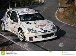 peugeot 206 rally peugeot 206 super 1600 rally car editorial stock image image
