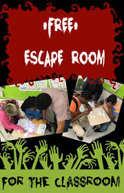 classroom escape room review game holiday classrooms holidays