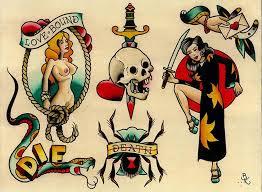 brian kelly u0027s set of flash tattoo artwork this traditional tattoo
