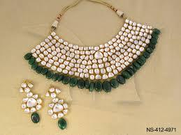 green necklace set images Kundan necklace sets green oval kundan necklace sets kundan jpg