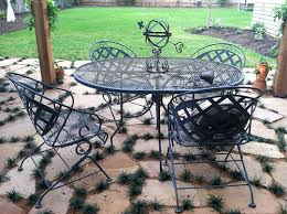 Metal Patio Furniture by Painting Metal Patio Chairs Landscaping Gardening Ideas