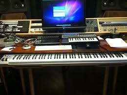 Under Desk Pull Out Drawer My Custom Built Production Desk With A Sliding 88 Key Controller