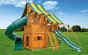 multi deck sky 4 backyard swing set eastern jungle gym