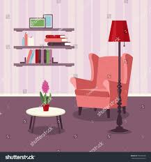 vector image room interior livingroom armchair stock vector