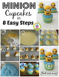 minion cupcakes easy minion cupcakes happy home