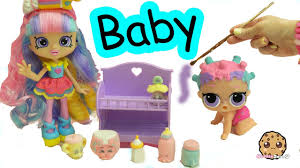 diy baby shopkins shoppies rainbow kate lol surprise painting