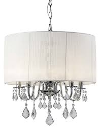 Silver Chandelier by Amazon Com Canarm Ich438a05ch18 Sarah 5 Light Chandelier Home