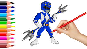 how to draw power rangers coloring pages for kids superheroes