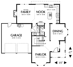 farmhouse style house plan 4 beds 2 5 baths 2195 sq ft plan 48