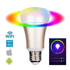 alexa light bulbs no hub eosaga gold smart led bulb wifi a19 compatible with alexa