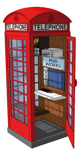 photo booths for these classic london phone booths are turning into micro offices