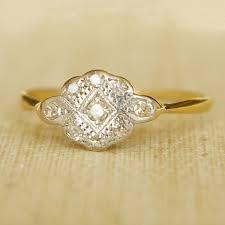 1920 u0027s art deco diamond platinum and 18k gold ring etsy shop