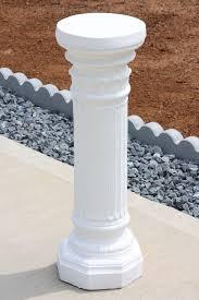 Plant Pedestal Pedestal 27 34quot Plant Stand Roman Style Column White Plant