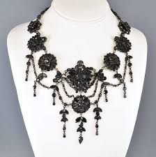 victorian necklace black images 40 best mourning jewellery images bead necklaces jpg
