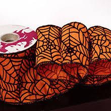 orange spider web wired ribbon