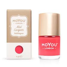 moyou london bubblegum nail stamping polish