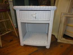 white wicker end table accent tables with wicker drawers table designs