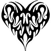 tribal tattoo heart in the shape of a butterfly t shirt spreadshirt