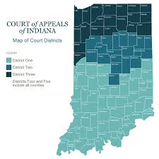 State Of Indiana Map by Courts In Gov Court Of Appeals Districts