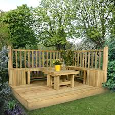 1 8x2 4m deck kit with railings square spindles buy decking direct