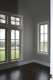 grey wall white trim with this flooring color this is exactly