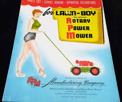 lawn boy parts list and service manual model 8fh10lb vintage lawn