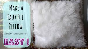 White Fur Cushions How To Make A Faux Fur Pillow Youtube
