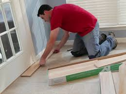 Laminate Flooring And Fitting Flooring How To Installing Laminate Flooring With Blue Paint