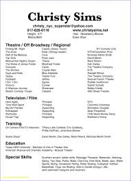 musical theatre resume exles musical theatre resume template free exles acting exle new