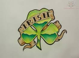 irish clover tattoo design