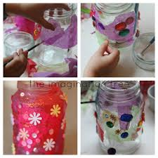 jam jar and tissue paper luminaries tissue paper jar and