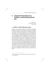 K Hen In U Form G Stig Schulische Prävention Von Gefühls Und Verhaltensstörungen Pdf