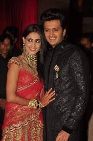 reception sarees for indian weddings riteish deshmukh and genelia d souza wedding on february 3 2012