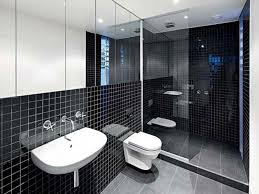 black and white bathroom design bathroom grey wallpaper design ideas towel checkered classic